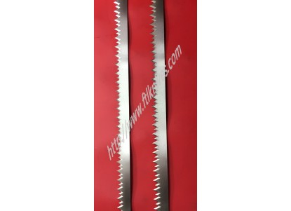 High and low serrated knife
