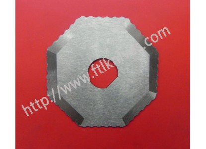 Octagon Shaped Round Serrated Knife