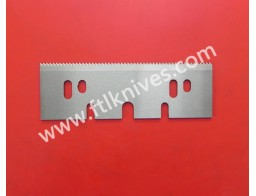 Long  Straight Saw Toothed Cut Knife Blade