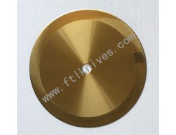 Tin Coating Big Machine Circular Blade Golden Knife